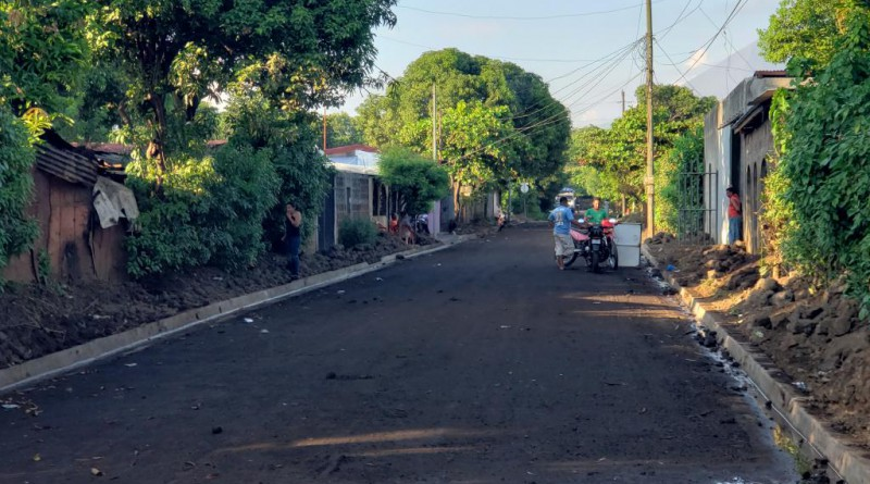 Construcción de cunetas en el   camino de Jesús, Chichigalpa