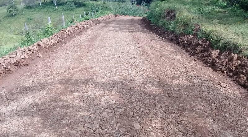 Diez kilómetros de camino se mejoraron en comunidades de Santa Teresa de Kilambé que a su vez pertenecen a San José de Bocay.