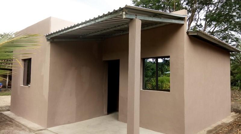 Otra de las nueve casas que inaugurarán las familias de comunidades de San Fernando
