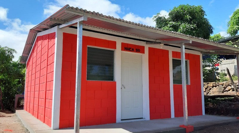 Dieciséis casas como esta  a igual número de familias de La Concordia