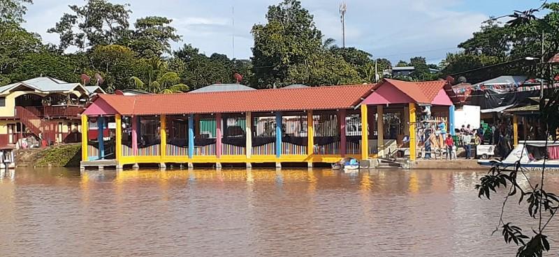 Mejoras en la terminal de transporte En Boca de Sábalos, El Castillo, Río San Juan