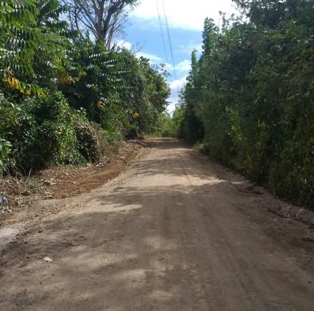 En San Juan de oriente se mejoró el camino a la comunidad La Garnacha