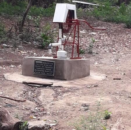 Pozo en la comunidad Valle de los Jiménez en Nagarote