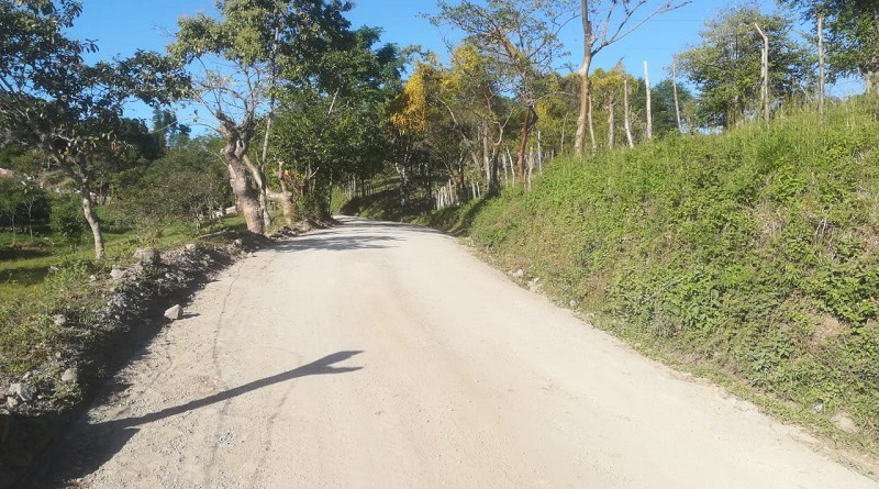Camino de la comunidad Los Guásimos en Matagalpa  con  ocho kilómetros rehabilitados