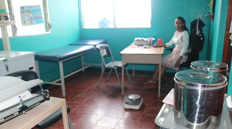 Una de las salas de atención del puesto de salud de  Biltignia, jurisdicción de Bonanza.