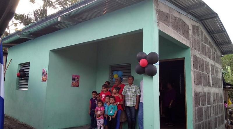 Cinco casas como estas fueron entregadas a familias de la comunidad Quinuma en La Libertad