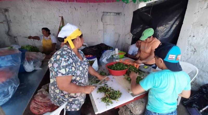 Otro aspecto de la actividad culinaria en las fiestas de San sebastián