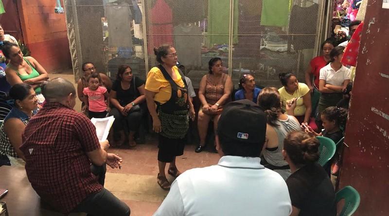 Alcaldía de Chichigalpa presenta plan de trabajo e inversión municipal con comerciantes del mercado