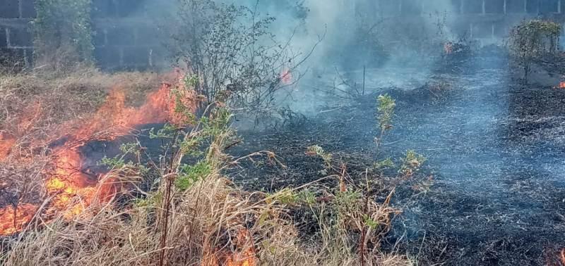 Incendio en predios de Ina provocado por cazadores furitivos