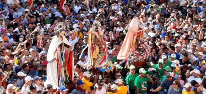 El 19 de enero el Tope de Santos reunió a la divinidad festejada a San Marcos y Apóstol Santiago, patrono de Jinotepe y San Marcos en Dolores