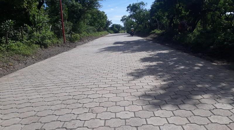Una de las dos calles adoquinadas en Nagarote