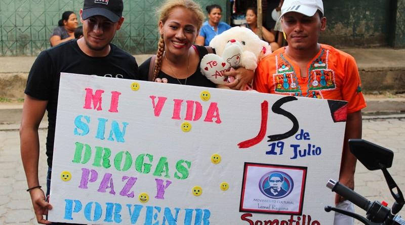 ¡No a las drogas! dicen los nicaragüenses
