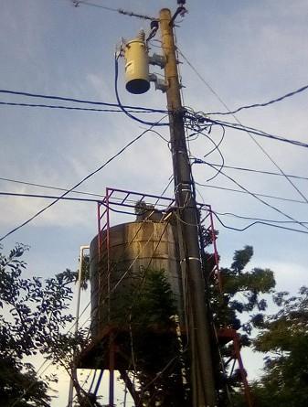 Sistema de agua potable en la comunidad Divino Niño, en Posoltega
