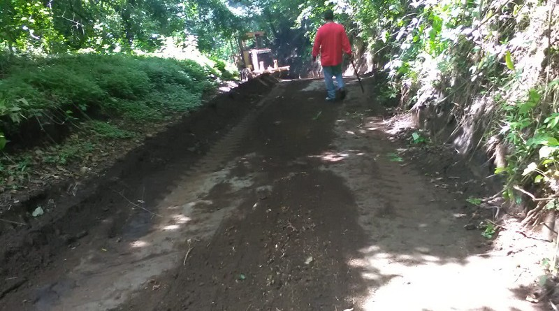Camino de la comunidad La Cruz en Chinandega, donde se mejoraron 5 kilómetros de camino