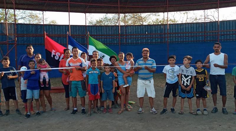 Inauguración de rehabilitación del estadio Valle de Las Zapatas en Larreynaga-Malpaisillo