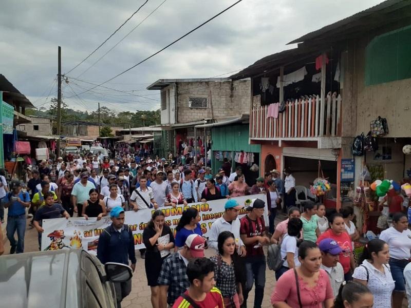 Las familias de San José de Bocay marchan para sensibilizar a la población en la prevención de incendios forestales