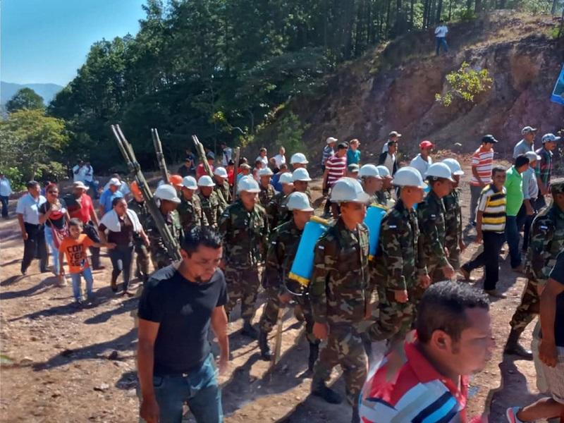 En Cinco Pinos lanzamiento del plan para prevención de incendios forestales en el cerro San Rafael