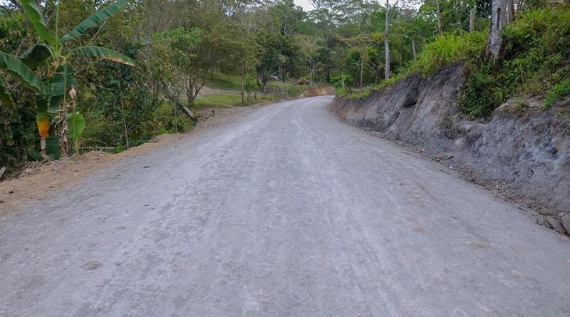 Camino mejorado en Siuna