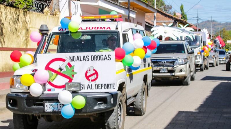 Carnaval Mi vida libre de drogas en El Sauce