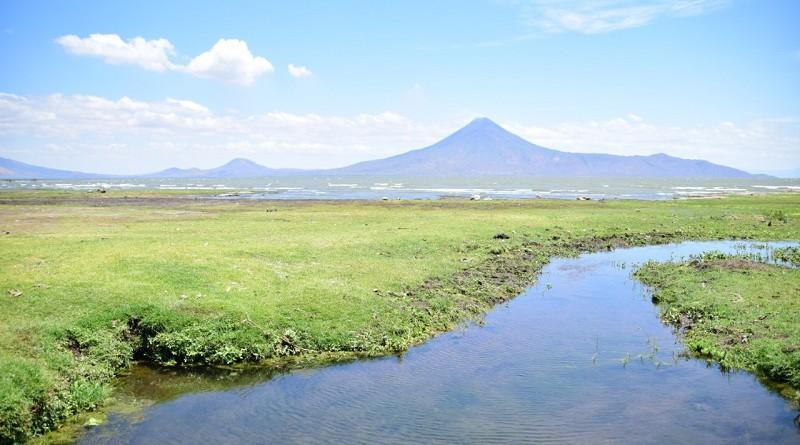 Bella panorámica del balneario lacustre El Recreo en Nagarote