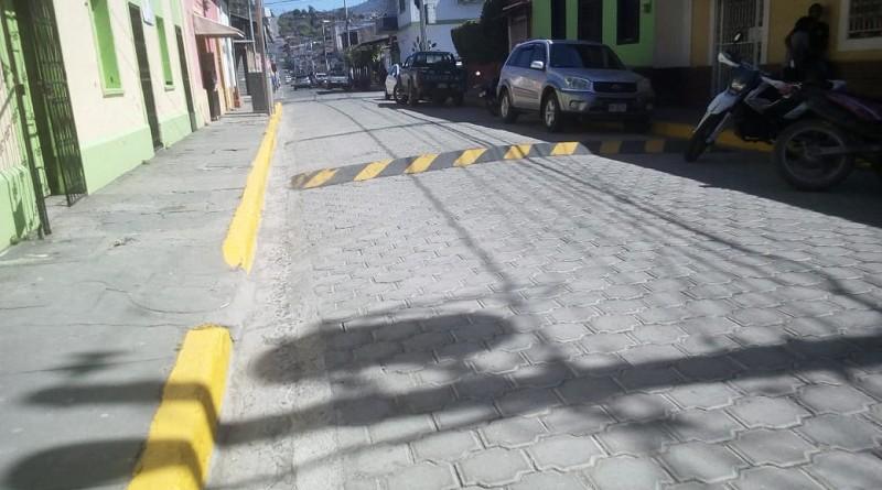 Calle de Matagalpa en el barrio Salvador Amador