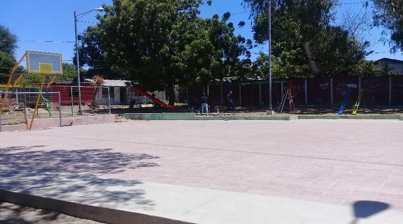 Mejoras en parque y cancha en Ciudad sandino