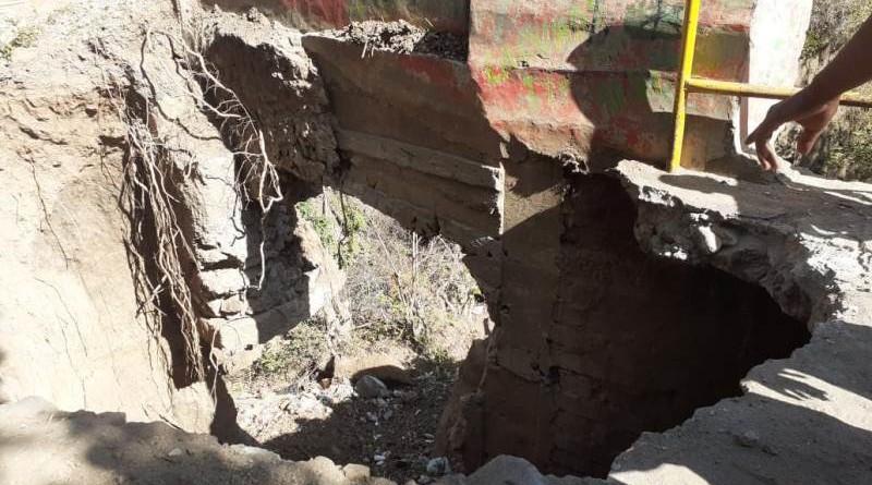 Así quedó el puente La Laguna por los daños de las lluvias de diciembre pasado