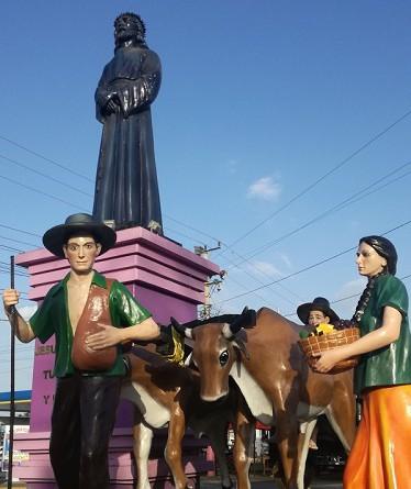Monumento alegórico  a la tradición , se alza en la rotonda en la entrada a Rivas