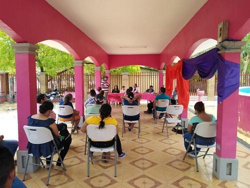 El Jicaral: Sesión especial con el comité de agua y saneamiento.