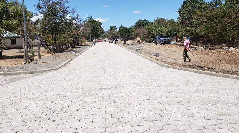 En Mateare el proyecto vial es de 3.5 metros lineales en la comunidad Canaán y Barrio Aquiles Medina.