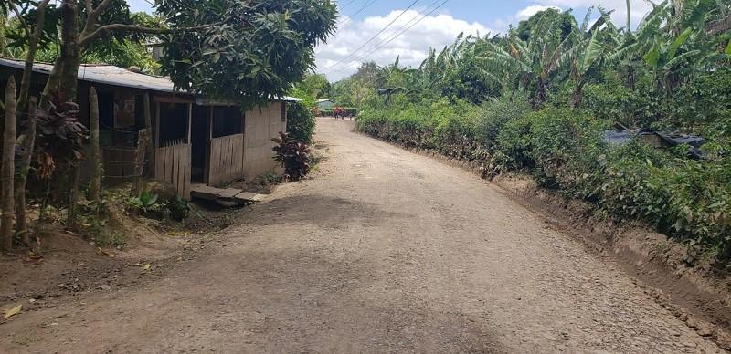 En Matagalpa  se mejoraron once kilómetros de camino en la comunidad La Estrellita.
