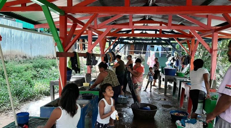 Lavanderos comunitarios  en Bonanza fueron mejorados