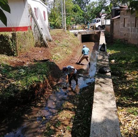 Cauce en Villa Sandino