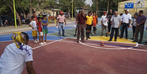 Juigalpa: Inauguración de cancha en el barrio Nuevo Amanecer