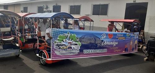 Competencia de triciclos en Chinandega