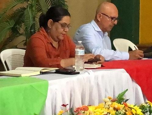 Presidenta ejecutiva de Inifom , Guiomar Irías y director general del INC, Luis Morale