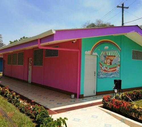 Mejoras en el centro de desarrollo infantil   Mis Dulces Chocoyitos en Ticuantepe.