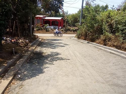Calle en el sector El Granero en San Rafael del Sur