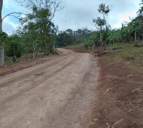 Tramo  Lajeros, El Guayabo en Santo Tomás, rehabilitado