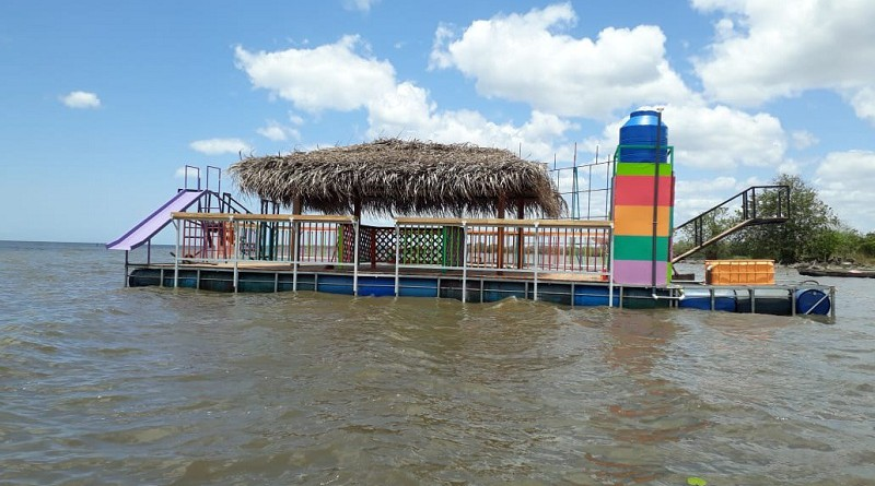 Balsa acuática en Morrito