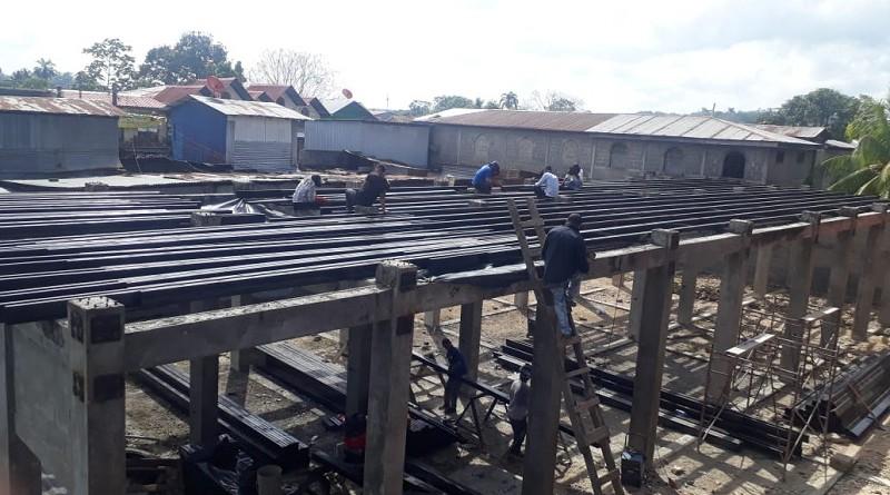 Avanza la construcción del segundo modulo del mercado en El Rama
