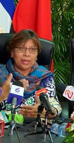 Ministra de Salud, Martha Reyes