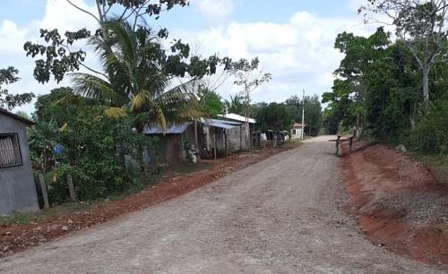 ,Calle de Nueva Guinea, donde 27 calles fueron mejoradas en el barrio El Mirador