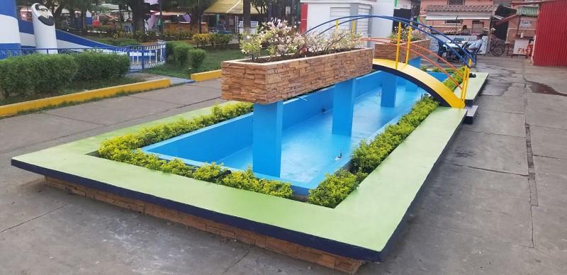 Ambiente de uno de los parques mejorados en Chichigalpa