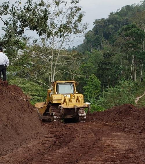 ruta rural Jilguero-Las vegas en San José de Bocay donde se mejoraron 5 kilómetros de caminos
