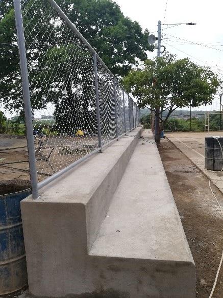 Cancha del barrio Edgar Taleno en Ciudad Sandino