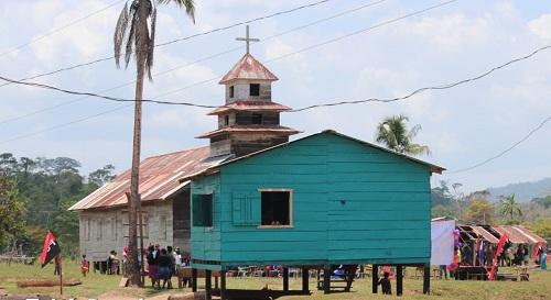 En predios de iglesia moraba inauguración de casas