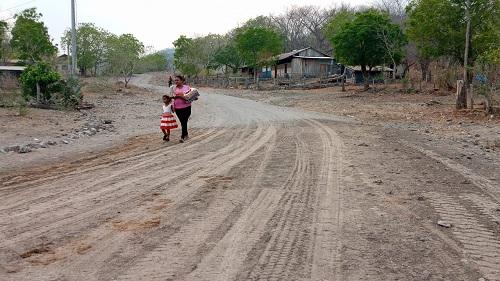 Diez kilómetros de caminos mejorados en lla comunidad Portobanco en Larreynaga