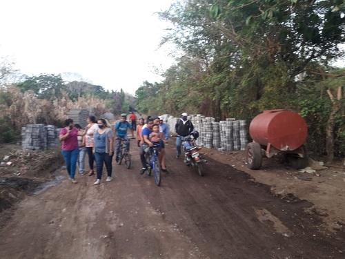 Inicia adoquinado de camino La Curva en Niquinohomo