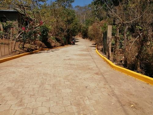 Calle construida  en la comunidad La Zopilota en Diriá